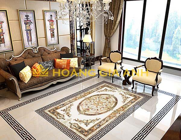 Gạch thảm trang trí sang trọng cho mọi căn phòng khách